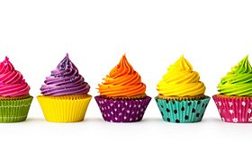 Übersichtsbild Bunte Cup Cakes: Ein Beispiel für Produktvarianten, Bildquelle: fotolia, Ruth Black