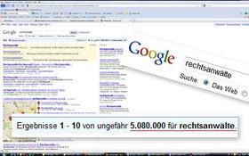 google-Suchergenis Rechtsanwälte