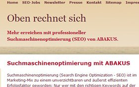 Webseite Abakus Internet Marketing