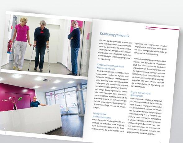 ORTHOPARC-Klinik, Fachbereichsbroschüren