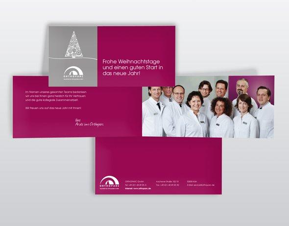 Corporate design f r rzte weihnachtskarte orthoparc klinik - Interaktive weihnachtskarte ...