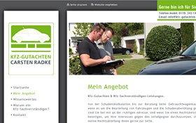 Webseite Carsten Radke