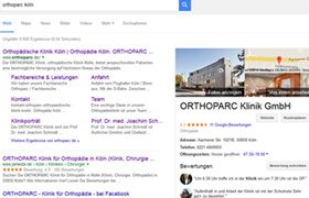 ORTHOPARC Klinik GmbH, Google My Business