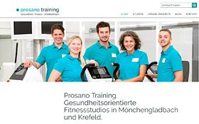 prosano training Webdesign