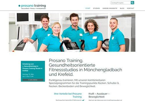 Prosano Training Fitness-Studio Mönchengladbach Krefeld