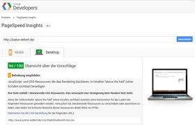 Website Ladezeit optimieren: Nutzen Sie den Google Page Speed Test