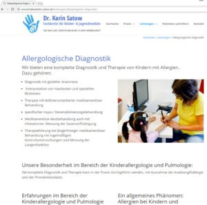 Website Praxis Dr. Satow Frontend