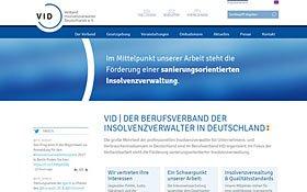 Webdesign-Referenz VID, Thumb Übersichtsseite Website-Referenzen