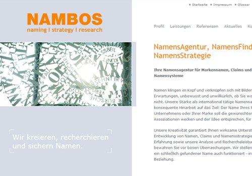 Webdesign Nambos Namensagentur Köln