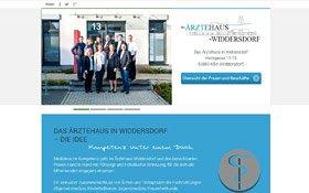 Webdesign Ärztehaus Köln-Widdersdorf, Voransicht Übersichtsseite