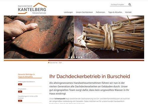 Webdesign für Dachdecker Kantelberg in Burscheid