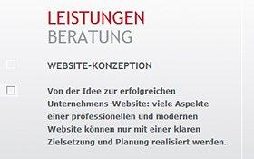 Beratung zur Website-Konzeption