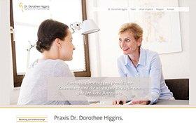 Webdesign für Ärzte, Referenz Fr. Dr. Higgins, Thumb