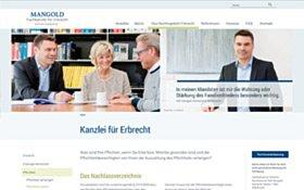 Webdesign Köln, Referenz Rechtsanwalt Mangold