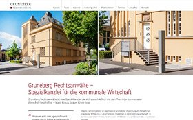 Webdesign Gruneberg Rechtsanwälte, Thumb