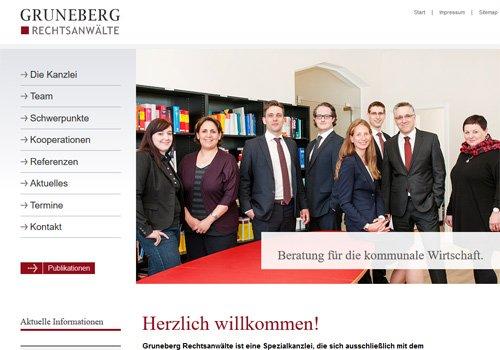 Webdesign Gruneberg Anwalts-Kanzlei Köln-Ehrenfeld