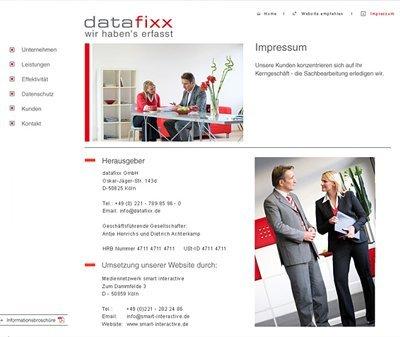 Webdesign Köln, Kundenstimme datafixx