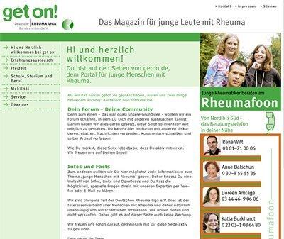 Webdesign Köln, Kundenstimme Deutsche Rheumaliga