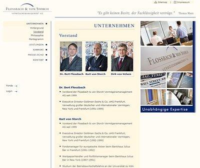Flossbach VonStorch, Kundenstimme Webdesign Köln