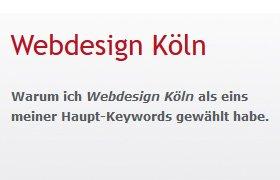 Webdesign Köln als SEO-Keyword