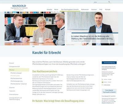 Webdesign Köln, Kundenstimme von Rechtsanwalt Ralf Mangold