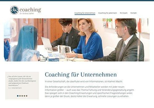 Webdesign Köln, Webdesign für AS Coaching, Auswahl