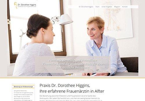 Webdesign Köln, Referenz Dr. Higgins, Auswahl