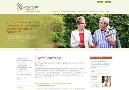 Webdesign Köln, Webdesign für Coaches & Berater, Wortwelten Brandes