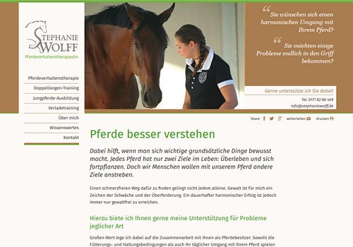 Webdesign Marketingberatung, Stephanie Wolff, Auswahl