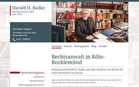 Webdesign Rechtsanwalt Radke Köln, Thumb