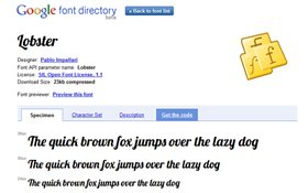 WEbseite Google Font Directory