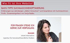 Webdesign und Suchmaschinentauglich Beratung