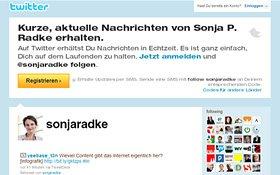 Twitter-Seite Sonja Radke