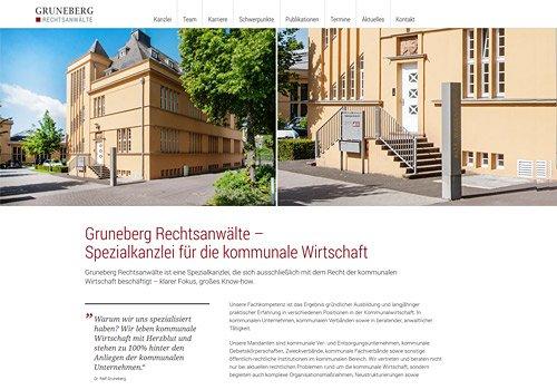 WEbseite erstellen lassen: Gruneberg Rechtsanwälte haben genau das gemacht