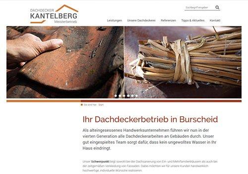 Webseite erstellen lassen, Dachdecker Kantelberg
