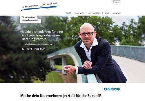 Website Referenz Oberwasser Consulting Auswahl