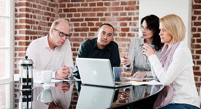 Teambesprechung bei smart interactive, Werbeagentur in Köln